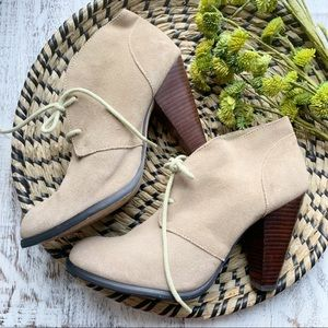 Seychelles lace up heels sz 9.5